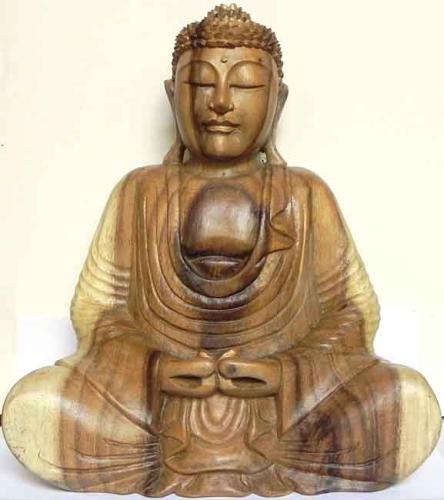 Buddha statue holz lotusgaleria for Buddha statue holz